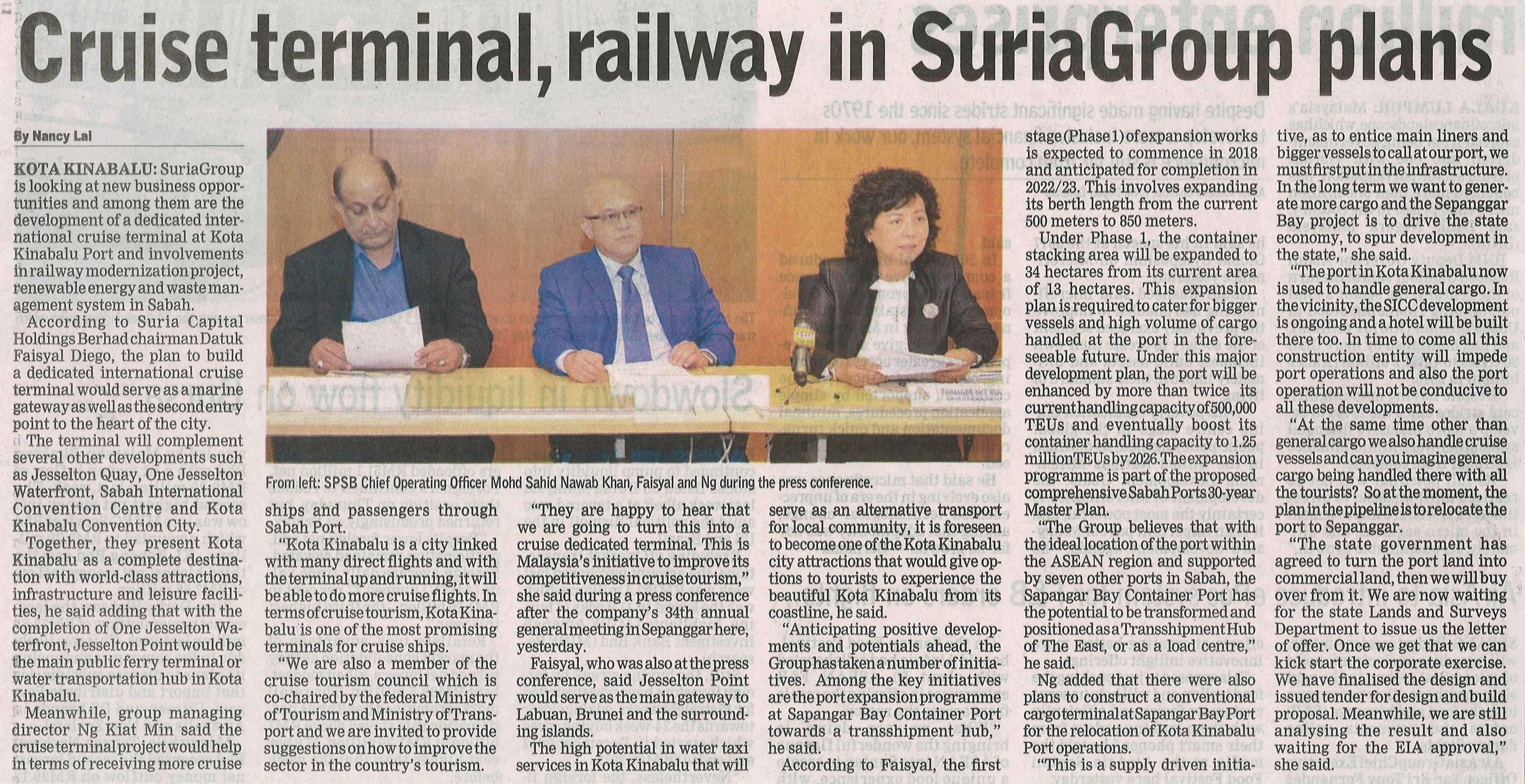 Cruise Terminal, Railway in SuriaGroup Plans
