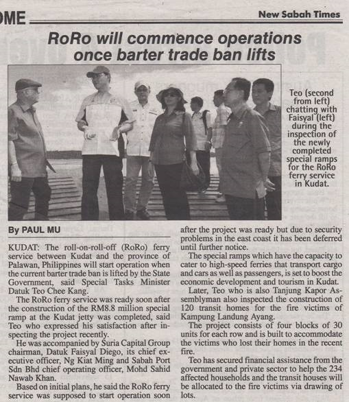 RoRo Will Commence Operations Once Barter Trade Ban Lifts